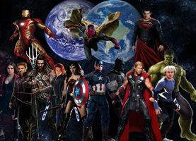Avengers and Justice League unite by ArkhamNatic