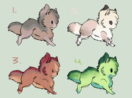 CLOSED ~ 4 Inexpensive Chibi Adoptables by Animal-Canine-Adopts