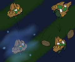 Commission: Rocks are the enemy by VenetteTheFurret