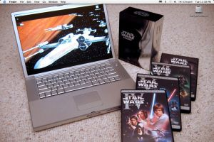Powerbook with Star Wars DVD's by hitokirivader
