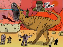 Castro on T-Rex in Iraq by ccs1989