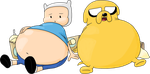 TRADE - Finn and Jake bloated by JuacoProductionsArts
