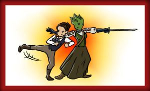 Madame Vastra and Jenny by blackbirdrose