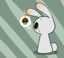Bunny wants cupcake... by Hatchet-Ears