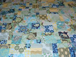 disappearing nine-patch quilt by BaronessaGinevra