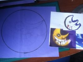 Moon from soul eater (sketch) by Spray-n-play