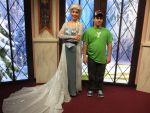Picture with Queen Elsa by montey4