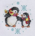 Penguins cross stitch by Lil-Samuu