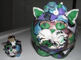 Two patchwork cats by metalpug