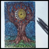 WORLD TREE - Yggdrasil Series by alice-darling-art