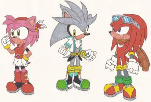 Sonic Alternate Costumes 2 by Sonicguru