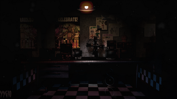 FNAF 1 Fixed Office by YinyangGio1987