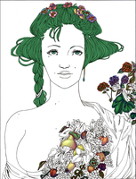 Harvest Goddess WIP by norree