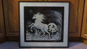 Unicorn Cross Stitch - Framed by SorrowsMadness