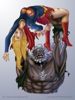 Supergirl vs Doomsday Final by tabu-art