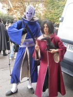 Cosplay Itachi edo tensei and Tobi by stellinanera