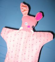 Walrus Toothed Pink Rabbit by puppetry