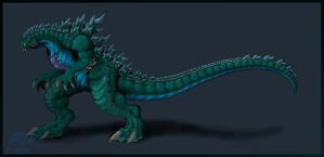 Legendary Godzilla colors by AlmightyRayzilla