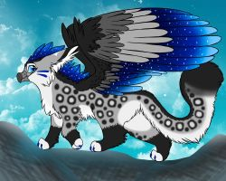 Luxis the Gryphon (my new fursona) by GalaxxyPaw