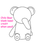Chibi Bear Base by Neku-Sai-Sakuraba