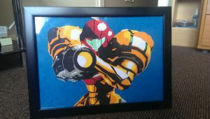 Samus Aran Metroid Paper cut art by swiftflik
