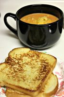 Tomato soup mac and cheese by Mend30012