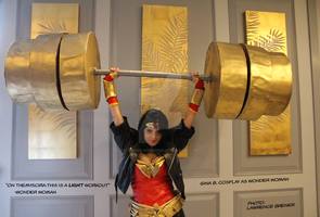 On Themyscira, This Is A Light Workout by lawrencebrenner