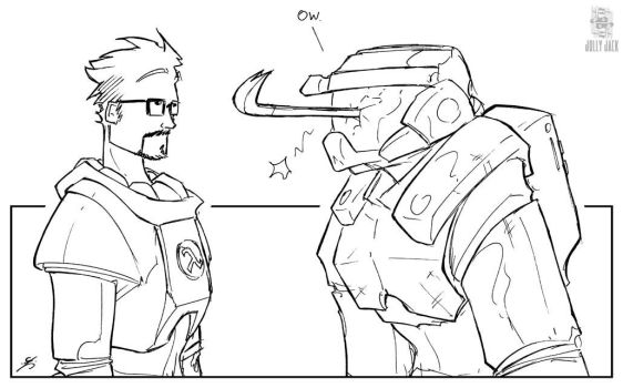 Freeman Vs. Chief by jollyjack