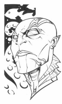 sketchy : Abe Sapien by KidNotorious