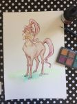 Centaur #2 Watercolor Illustration Video by jbsdesigns