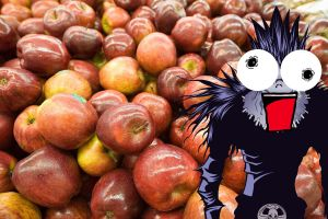 Ryuk Loves Apples by SonicLemur