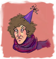 Fourth Doctor in a hat by ofborg