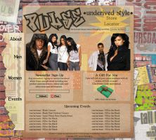 Web Design - Pulse Clothing by laeckler