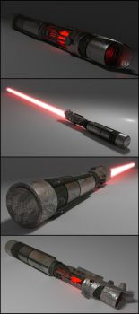 Blender Cycles Lightsaber by Pharaoh-Hamenthotep