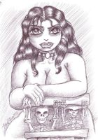 creepy girl from sketch book by godzillasmash