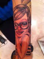 Girl Sleeve (my gf's arm) **CLOSE UP OF GIRL** by Lucifine666