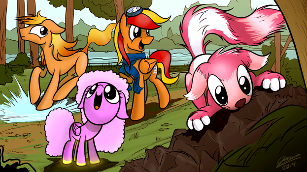 Playing in the woods - Commission for Chris9801 by Dori-to