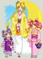 Moon Children in Kimonos by TechnoPoptart
