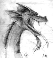 A Dragon by Candy-Janney