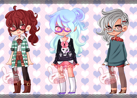 Glasses are Cool Adopts-closed- by PastelBits