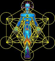 Metatrons Cube Energy Form by Chazrael