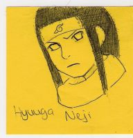 Hyuuga Neji on a Post-it xD by AryaHiwatari