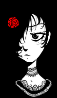 blood red rose by Valerei