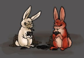 Drunk Bunny Buddies by Nortiker
