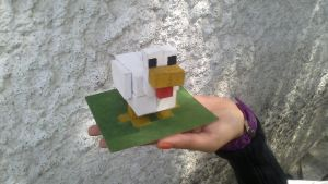 Minecraft Chicken xD  patooo!! by FerzyPPGD