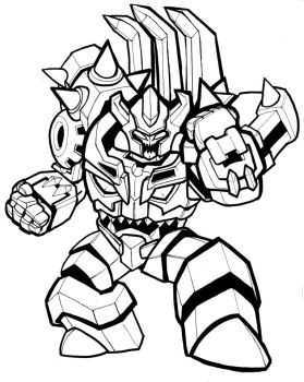 Transformers Minicon (Bludgeon?) by RID-NightViper