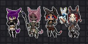 Pixel Party by chocolate-rebel