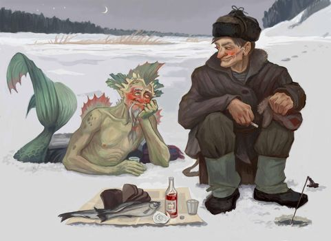 Here is my village, here is my home: Old Mates by ZarKir