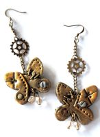 Steampunk Butterfly Earrings by Hyo-pon