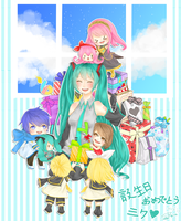 Happy 6th Birthday Miku! by shiroineko4
